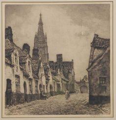 Roodenburg, Hendrikus Elias 1895-1987, Brugge, St. Jan in de Meersch, ets
