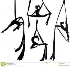Illustration about Aerial silk dancer in silhouette illustration. Illustration of acrobatics, fabric, ladies - 51062806 Aerial Dance, Aerial Hoop, Aerial Acrobatics, Aerial Arts, Arial Silks, Silk Dancing, Dance Silhouette, Pose Reference, Art Tutorials