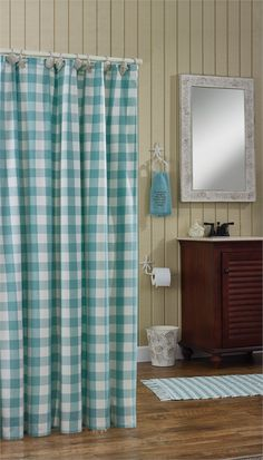 Made in the USA. Cottage Red Check Tieback curtains available at ...