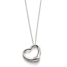 Tiffany and co Necklaces Elsa Peretti OPEN HEART pendant silver This Tiffany…