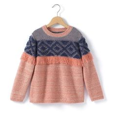 Patterned Round Neck Sweater R kids : price, reviews and rating, delivery. Patterned knit sweater. Round neck. Patterned, knitted detail and fringing. 97% acrylic, 3% wool.