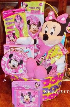 Hannahs minnie mouse easter basket aka the mother of easter minnie mouse easter basket negle Image collections