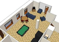 This is the basement lounge in Cheney Hall, which is open to all residents of Cheney Hall.