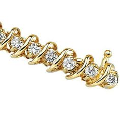 """14K Yellow Gold Diamond Bracelet - 3.33 Ct. Gems-is-Me. $5411.40. Free Priority Shipping.. This item will be gift wrapped in a beautiful gift bag. In addition, a """"gift message"""" can be added."""