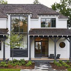 The exterior design of a home can often get overlooked, but as the first thing that welcomes both us and our guests, it is worth devoting some time tending to the outside of your house. The farmhouse exterior design totally… Continue Reading → Interior Design Minimalist, Haus Am See, Modern Farmhouse Exterior, Farmhouse Decor, Cottage Living, Cottage Style, House Goals, House Colors, My Dream Home