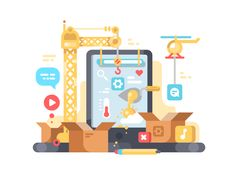 Creation+and+development+of+app.+Web+design+and+programming.+Vector+illustrationVector+files,+fully+editable.
