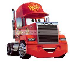 "10"" x 9"" Mack Truck Semi Rig Disney Pixar Cars 2 Movie Vinyl Wall Decal Sticker #DisneyPixar #DieCutDigitalPrinted"