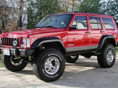 jeep cherokee with lift kit - xj… Jeep Wj, Jeep Wagoneer, Wrangler Jeep, Jeep Wrangler Unlimited, Jeep Xj Mods, Jeep Cars, Jeep Truck, Jeep Wranglers, Jeep Cherokee Sport