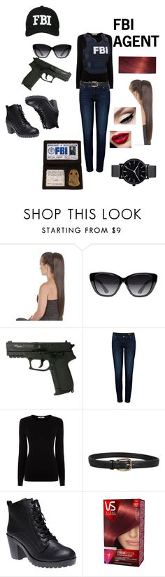 """FBI AGENT"" by scarlette-13 on Polyvore featuring Elizabeth and James, Anine Bing, Oasis, Gucci, Wet Seal, Vidal Sassoon and The Horse"