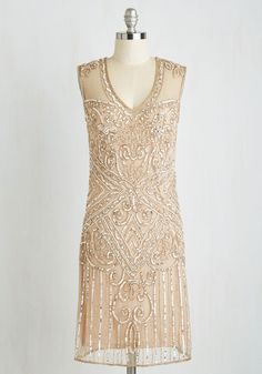 Roaring Adoration Dress - Blush, Solid, Beads, Sequins, Special Occasion, Holiday Party, Homecoming, Vintage Inspired, 20s, Luxe, Sleeveless, Woven, Best, Shift, Mixed Media, Wedding, Bridesmaid