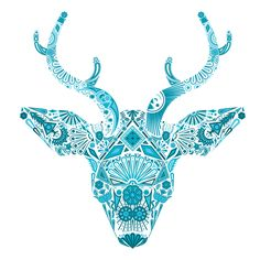 Huichol Deer Graphic