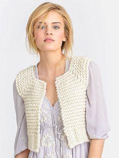 Knitting pattern for Lanesboro Vest in super bulky yarn                                                                                                                                                                                 More