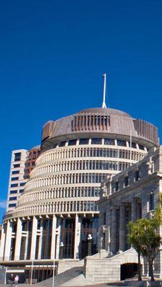 Bowen House Beehive Parliament, Tourism, Wellington, North Island, New Zealand,