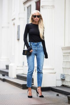 Todays Outfit – Denim & Saint Laurent. (Victoria Törnegren)