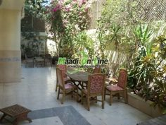 Duplex Ground floor for rent fully furnished in maadi sariaat. Real Estate Egypt, Cairo, Maadi, Sarayat  Maadi, Excellent, Furnished Apartments for Rent, Divided into 4 BedroomsNo,3 Bathrooms  Flooring :Ceramics Marble Hard wood ()www.maadionline.com