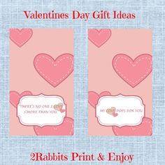 """These #Valentine's Day Candy Bag Tags are perfect as toppers to a cellophane bag. Use these toppers with the sayings """"There's no one I love S'more than you"""" and """"My Love Pops for you"""" to dress up your cellophane bags, fill them with s'mores or sweet popcorn and there you have a great gift for your lovers on Valentine's Day. #valentines2017"""