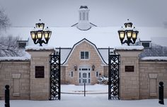 Gate to Kansas State University Gardens. Copyright K-State Photo Services.