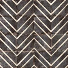 Bedrosians Vivace - Caviar Peak 9 x 9 Gloss Decorative Tile 93449761006089691