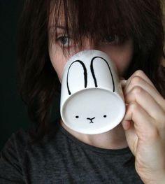 Imagen de bunny, cup, and diy