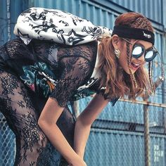 Styling with #GENTLEMONSTER 'Show me the swag' in #Voguegirl Magazine Product : #Lovesome . . #shooting #photography #magazine #styling #hipster #hiphop #fashion #pic #wild #street #streetfashion