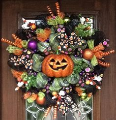 Deco Mesh Happy Halloween JACKOLANTERN Wreath by decoglitz on Etsy