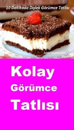 Toothy Görüm Dessert in 10 Minuten - Yummy Snacks, Snack Recipes, Dessert Recipes, Desserts, Cake Recipes, Homemade Sauerkraut, Icebox Cake, Iftar, Fermented Foods
