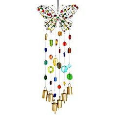 Iron Butterfly & Beads Wind Chime