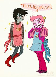Marshall Lee + Prince Bubble Gum = Cutest Couple Ever