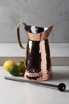 Hammered Lyric Pitcher & Spoon Set