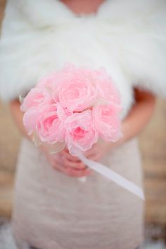 Tulle rose bouquet by @Mark the Occasion Designs