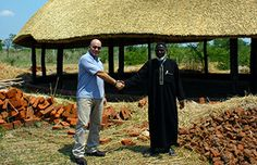IFAW staffer Mike Labuschagne meeting with a local Malawi chief.