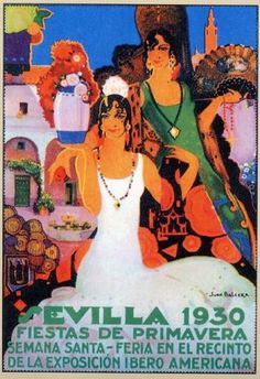 Cartel Feria de Primavera de Sevilla 1930