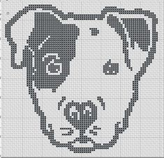 Pit Puppy Pibble Staffy Silhouette Small Cross by TheSoftScientist