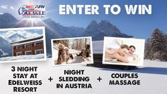 The ultimate winter trip with 3 nights at beautiful Edelweiss Resort + Night Sledding + Couple's Massage!