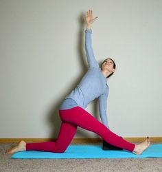 Yoga poses to help with IT Band for runners-HALF MONKEY POSE WITH TWIST