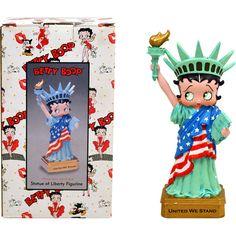 Betty Boop Statue Of Liberty Figurine