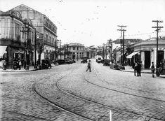 1934 - Subestação da Light no bairro do Bixiga (Bela Vista) - ao fundo. Atualmente abriga o Museu da Energia, tendo a esquerda a avenida 23 de Maio.