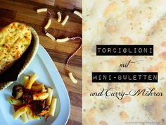Pasta mit Mini-Buletten und Curry-Möhren von KochzereMoni