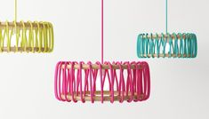 """penchant-for-design: Spanish designer Silvia Ceñal Idarreta has created the Macaron lamp. """"Macaron lamp started when I discovered everything that could be done with fabrics and laces. I wanted to mix wood and a simple lace. Lamp Design, Lighting Design, Diy Deco Rangement, Diy Luz, Luminaria Diy, Diy Luminaire, Creative Lamps, Ideias Diy, Rustic Farmhouse Decor"""