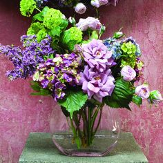 This flower arrangement holds an array of spring colors