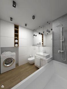 ŁAZIENKA - 5 m2 - Średnia łazienka w domu jednorodzinnym, styl minimalistyczny - zdjęcie od BIG IDEA studio projektowe