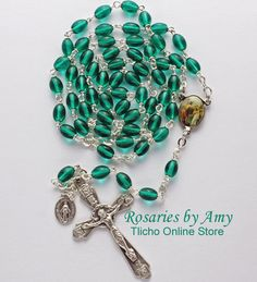 St. John the Baptist Rosary 192C made by Amy Hoffman of Yellowknife NT. $45.50 Tlicho Online Store