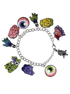Punky Pins Zombie Charm Bracelet
