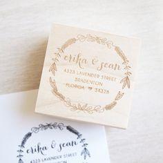 Custom Stamp Address 2 x 2 : personalized wedding por CAPELLAink