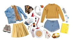 """pass the mustard please?"" by kampow ❤ liked on Polyvore"