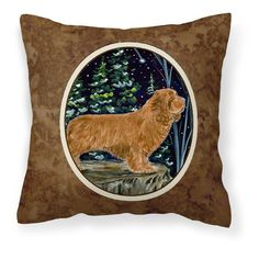 Carolines Treasures Sussex Spaniel Canvas Square Outdoor Pillow - SS8174PW1414, CARL127