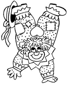 Coloring pages for kids to print - Clowns and circus coloring page/clown-coloring-pages-84