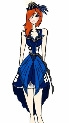 TARDIS dress design, by unknown
