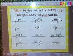 Letter Yy charting