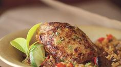 Cuban-Spiced Chicken Thighs with Chorizo and Rice Recipe   Bon Appetit